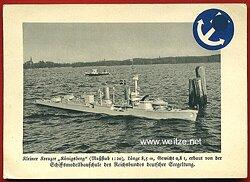 III. Reich - farbige Propaganda-Postkarte des Reichsbundes deutscher Seegeltung