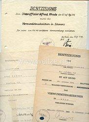 Heer - Urkundentrio für einen Unteroffizier im Inf.-Rgt.512