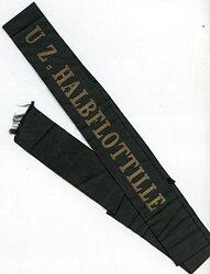 """Reichsmarine Mützenband """"ZU-Halbflottille"""""""