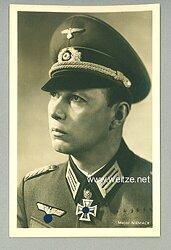 Heer - Portraitpostkarte von Ritterkreuzträger Major Horst Niemack