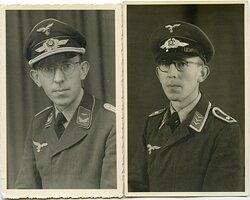 Portraitfotos eines Feldwebels und späteren Leutnants