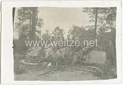 Foto Fliegerei 1.Weltkrieg: ein abgestürztes Flugzeug
