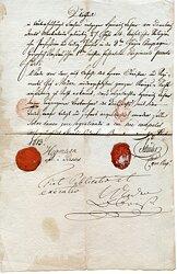 Spanien - Protokoll einer Kriegsgerichtsverhandlung mit Urteilsspruch vom 19.2.1813 in Barcelona welche zur Todesstrafe führte