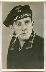 Portraitfoto eines Maat der Kriegsmarine