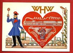 """III. Reich - farbige Propaganda-Postkarte - """" WHW 1936/37 - Woche des Verkehrs im Traditionsgau """""""