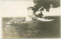 Foto Fliegerei 1.Weltkrieg: abgestürztes Flugzeug