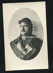 Foto Fliegerei 1.Weltkrieg: Portraitfoto eines Fliegers (Elbing 1918)