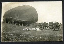 Foto Fliegerei 1.Weltkrieg: österreichischer Fesselballon bei Savidoze 1916