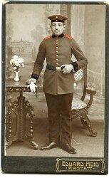 Foto eines Soldaten der 2.Badischen-Feldartillerie ( Raststatt)