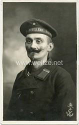 """Foto eines Maaten eines """"Marineartillerie-Regiment"""""""