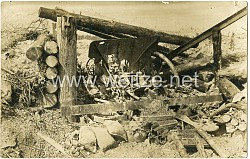 Foto 1. Weltkrieg: Zerstörtes Artilleriegeschütz vor Reims