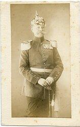 Foto des späteren Generaloberst und Pour le Merite Trägers Generalmajor Alexander Heye 1860-1915