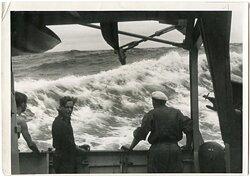 Kriegsmarine Pressefoto, Minensuchboot bei Hela