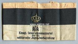 """1. Weltkrieg Armbinde """"Königl.Generalkommissariat für die militärische Jugendvorbereitung"""""""