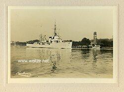 Foto von einem Minensuchboot der Kriegsmarine