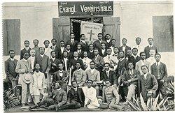 Postkarte vom Evangl. Vereinshaus in Lome (Togo)