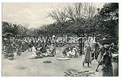 Postkarte vom Markt in Lome (Togo)