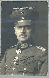 Weimarer Republik / Deutsches Reich, General Friedrich Postkarte, 139 x 89 mm.