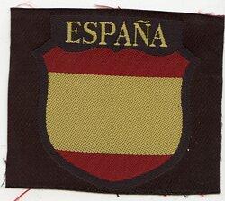 Wehrmacht Heer Ärmelschild der spanischen Freiwilligen (Blaue Division)