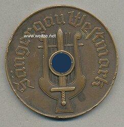 """NS Reichssängerbund nichttragbare Erinnerungsmedaille """"Sängergau Westmark - Sängerkundgebung Saarbrücken 4.u.5.Juli 1936"""""""