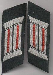 Wehrmacht Heer Paar Kragenspiegel für Offiziere Artillerie
