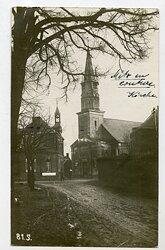 Foto Erster Weltkrieg: Kirche bei Mertz en Couture (Frankreich)