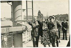 Pressefoto, General Ritter von Epp und General Wilhelm Knochenhauer bei einer Besichtigung