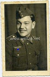 Portraitfoto eines Angehörigen der Infanterie