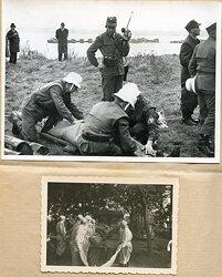 Bundesrepublik Deutschland ( BRD ) Fotokonvolut von Angehörigen des THW