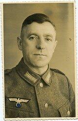 Portraitfoto, Angehöriger der Wehrmacht