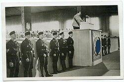 Foto, Hermann Goering bei einer Kundgebung vor Angehörigen der DAF bei dem Nürnberger Reichsparteitag