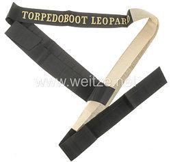 """Reichsmarine Mützenband """"Torpedoboot Leopard"""""""