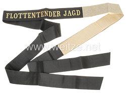 """Reichsmarine Mützenband """"Flottentender Jagd"""""""