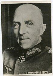 Portraitfoto, Ritterkreuzträger und General der Infanterie Mauritz von Wiktorin