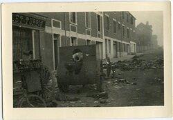 Foto, Zurückgelassenes Französisches Feldgeschütz