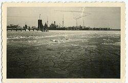 Foto, Hafen von Borkum 1943