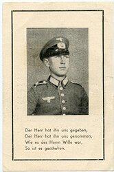 Todesanzeige eines Angehörigen der Wehrmacht