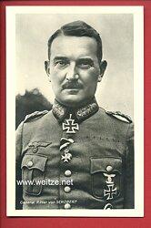 Heer - Portraitpostkarte von Ritterkreuzträger General Eugen Ritter von Schobert