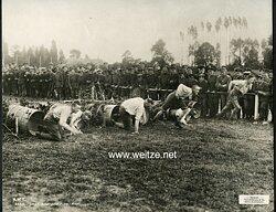 1. Weltkrieg Pressefoto, Deutsche Soldaten bei einem Sportwettlauf