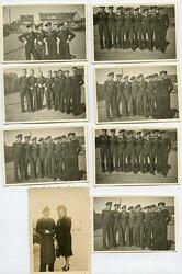Foto, Gruppenfotos von Angehörigen der Kriegsmarine