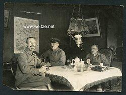 1.Weltkrieg Pressefoto, Besprechung mit Offizieren des Deutschen Heeres