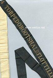 """Mützenband """"4. Torpedobootshalbflottille 4."""""""
