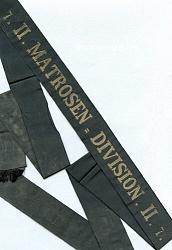 """Kaiserl. Marine Mützenband.""""7. II.Matrosen-Division.II.7."""""""
