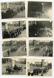 Fotokonvolut, Beerdigungs Trauerzug mit Organisationen der NSDAP in Lünen
