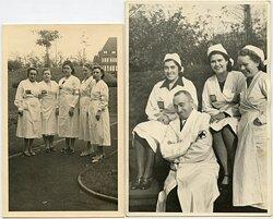 Foto, Lehrgang des Ärzteteam Werkluftschutz Hüttenverein 1940/41