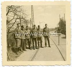 Foto, Wehrmachtssoldaten bei der Grenzbewachung bei Wyler