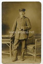 1.Weltkrieg Foto, Preußen Unteroffizier des Regiment Nr.259 mit Seitengewehr