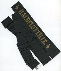 """Marine Mützenband """"4. Halbflottille. 4."""""""