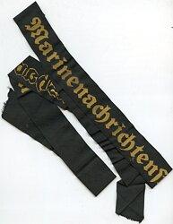 """Kriegsmarine Mützenband """"Marinenachrichtenstelle Wilhelmshaven"""""""