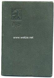 III. Reich - Tschechoslowakei - Mitgliedsausweis der U.S.P. ( Sozialversicherung )